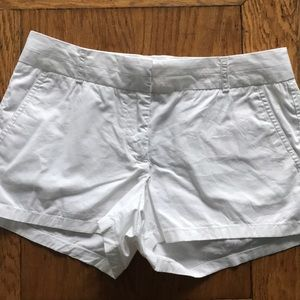 J crew broken in chino shorts size 4 white